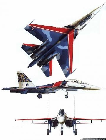 Russian Knights Su-27 first paint scheme