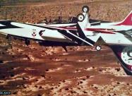 Thunderbirds Talon Mirror pass with gear down