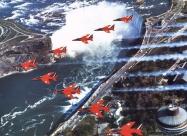 Red Arrows Folland Gnat over Niagara Falls