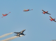 Red Devils and Belgian Air Force F-16 Demo Team