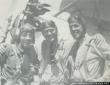Three Sea Hawks pilots. From left to right: LTJG W.V Davis, LT 'Tommy' Tomlinson and LTJG A.P Storrs III