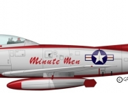 Minute Men F-86F-2 Sabre livery
