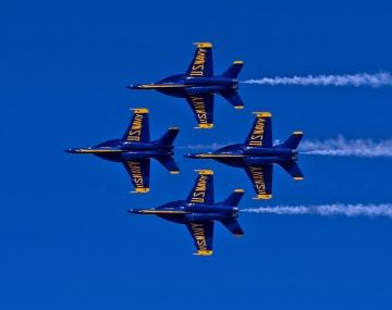 Blue Angels Super Hornet Delta. Photo US NAVY