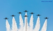 Thunderbirds in eight-ship formation near the Ronald Regan Library yesterday in Simi Valley, CA. Photo by Ezra Kamer. Los Angeles May 15