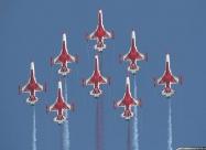 Turkish Stars second paint scheme. Eight-ship formation