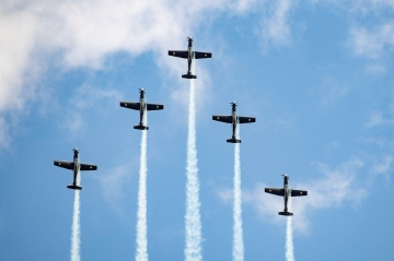RNZAF Black Falcons T-6. Photo by team's facebook page