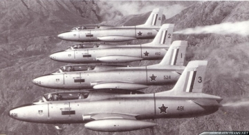 Silver Falcons MB-326 Impala Mk.I. First paint scheme from 1967 to 1985