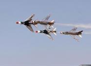 Thunderbirds F-100D Super Sabre. 1967 Reese AFB Airshow. Photo by Bob Denham