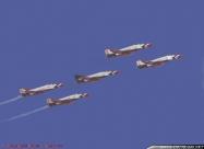 Thunderbirds F-4E Phantom II. Arrowhead Pass Nellis 21 Sep 70. Photo Bob Lawson