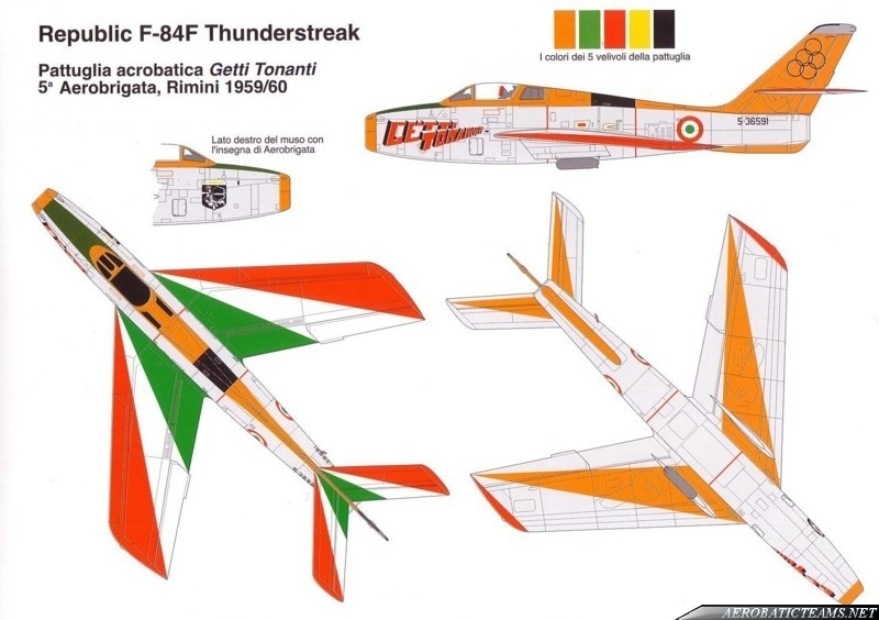 Getti Tonanti F-84F Thunderstreak paint scheme