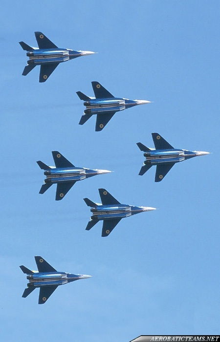 Ukrainian Falcons MiG-29 second paint scheme from 2000 to 2001