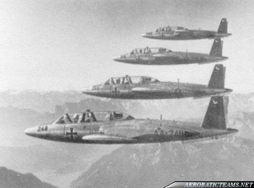 FFS A Acro Team CM-170R Fouga Magister, 1960 paint scheme