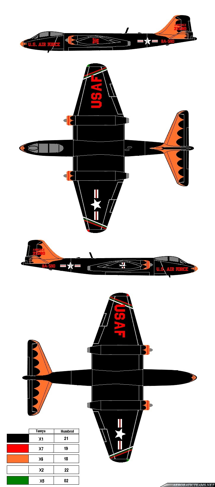 Black Knights B-57 Canberra paint scheme