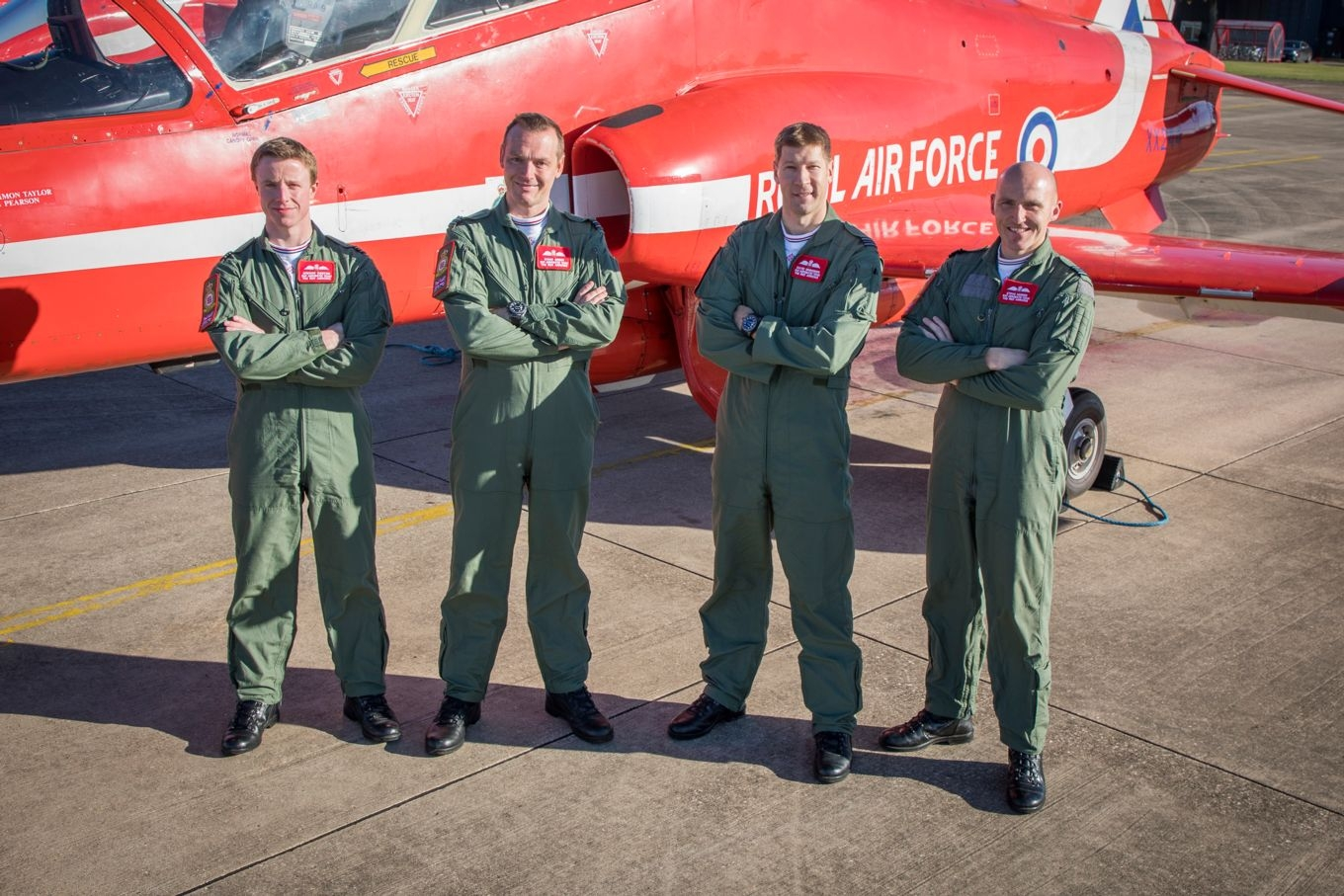 New pilots for 2019 (left-to-right): Flight Lieutenants Gregor Ogston, Damo Green and David Simmonds and Squadron Leader Steve Morris. Image by: SAC Rose Buchanan.