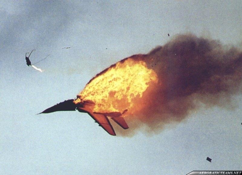 Test Pilots MiG-29 Fulcrum. Fairford 1993 crash