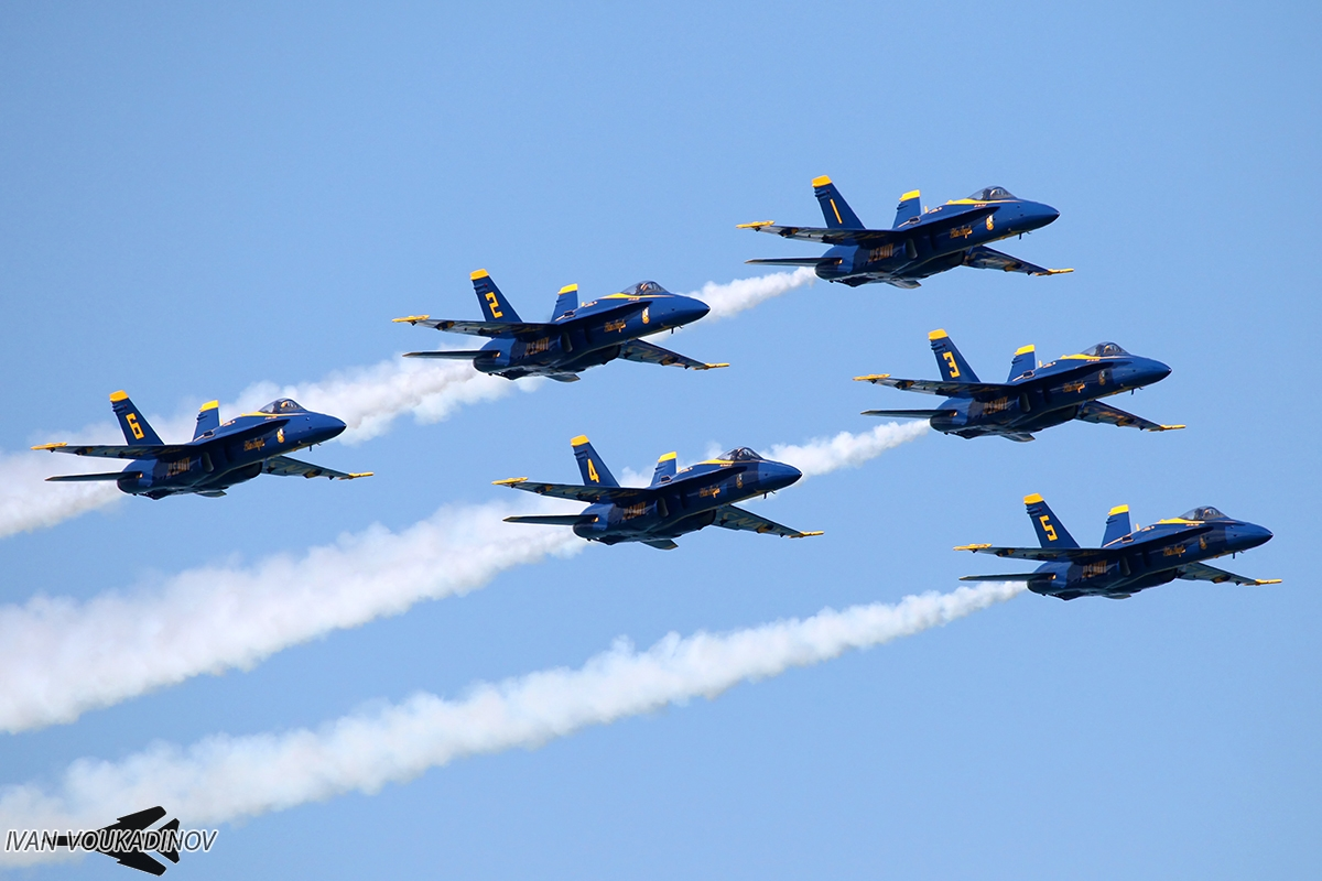 Blue Angels Delta formation
