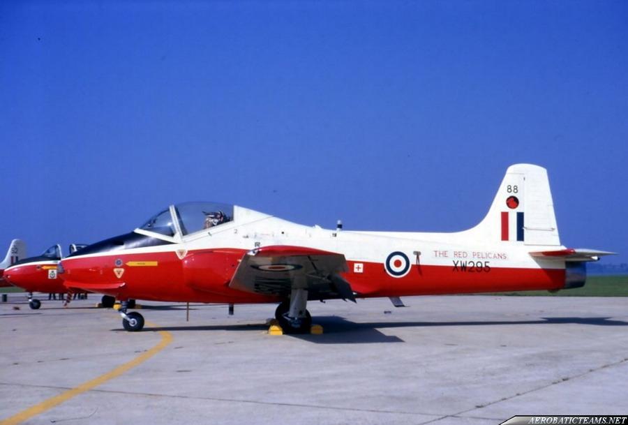 Jet Provost T Mk4 in white-red paint scheme