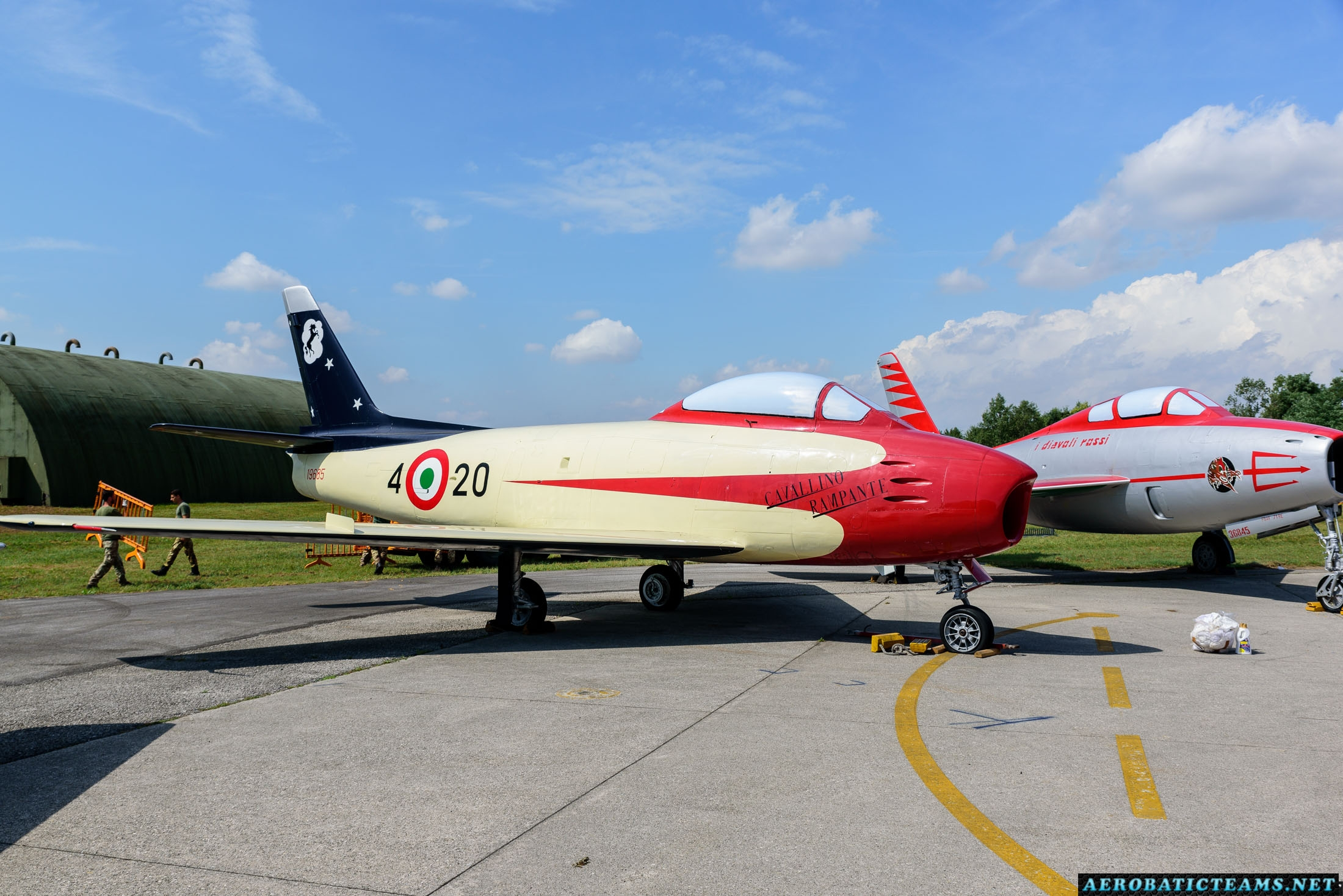 Cavallino Rampante Canadair Sabre Mk.4 at Rivolto Air Base