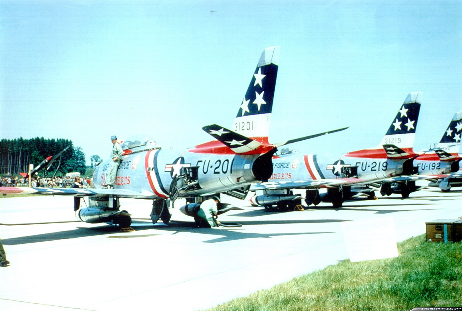 Skyblazers F-86F Sabre 1956, Chaumont Airbase, France