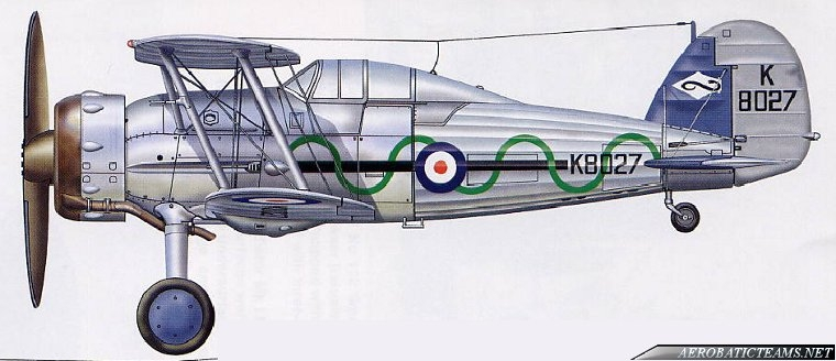 Gloster Gladiator Aerobatic Display Team livery