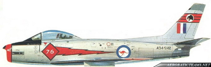 RAAF Red Diamonds paint scheme