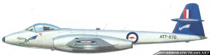 RAAF Meteorites Gloster Meteor F8 livery