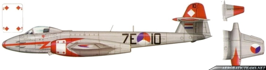 Diamonds Four Gloster Meteor Mk.8 paint scheme