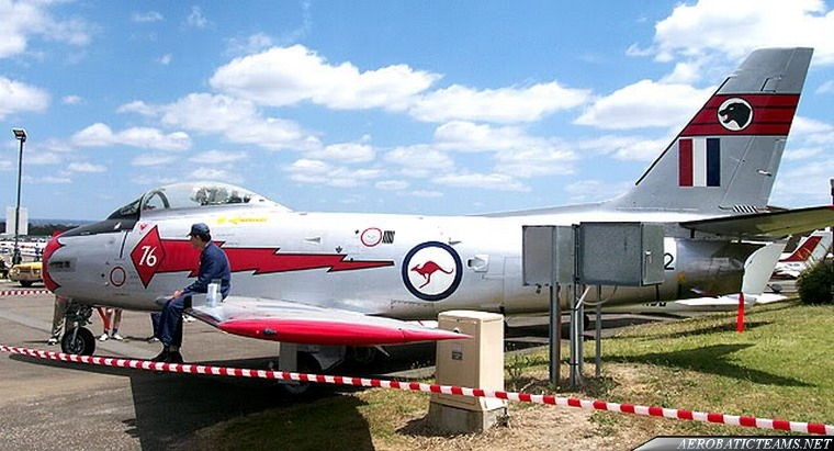 RAAF Red Diamonds CA-27 Mk.31 Sabre