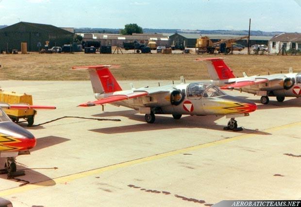 Silver Birds SAAB 105, 1975-1976