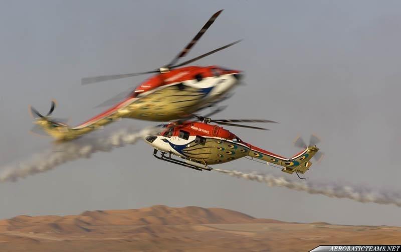 Sarang HAL Dhruvs