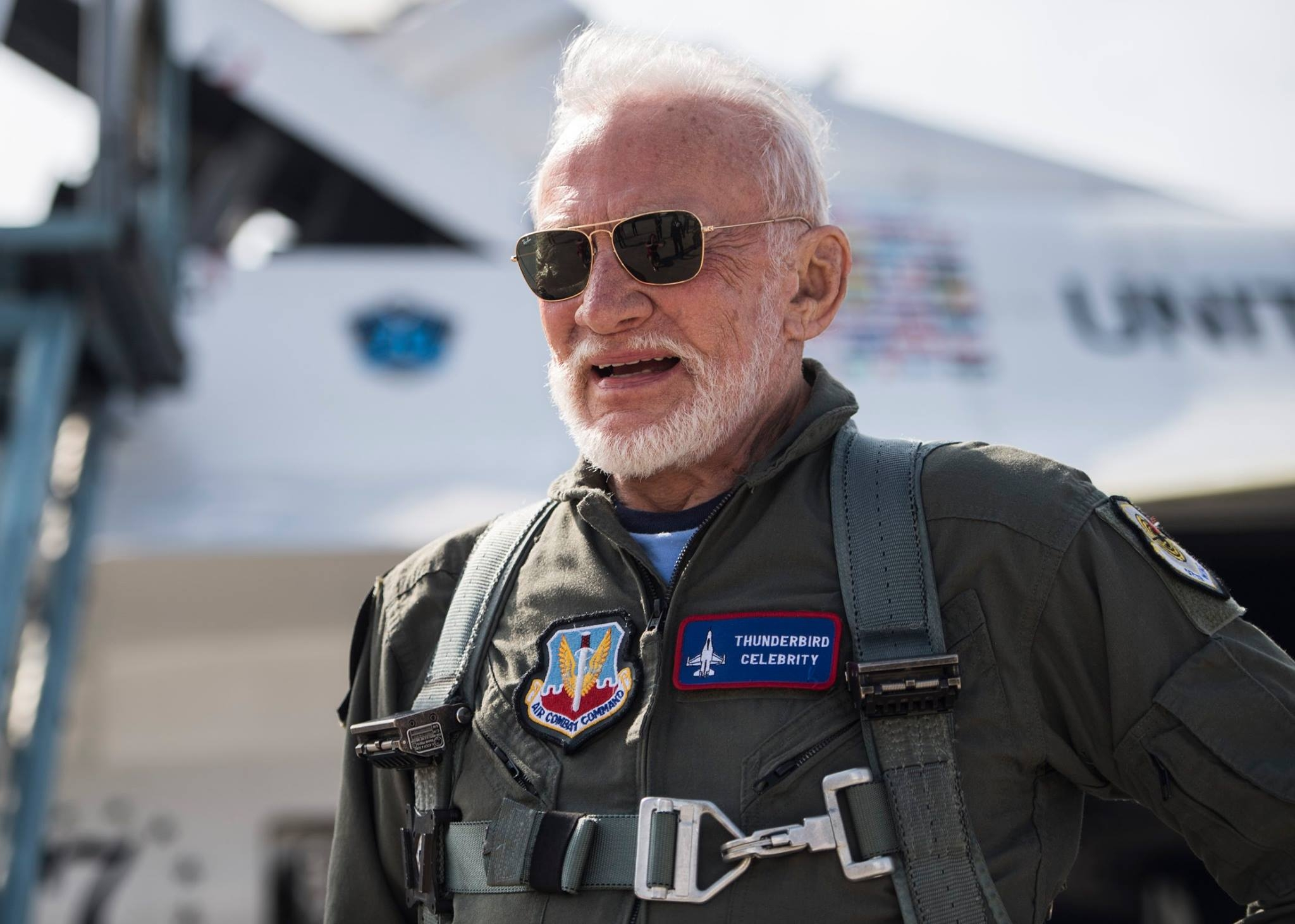 Buzz Aldrin. Photo USAF