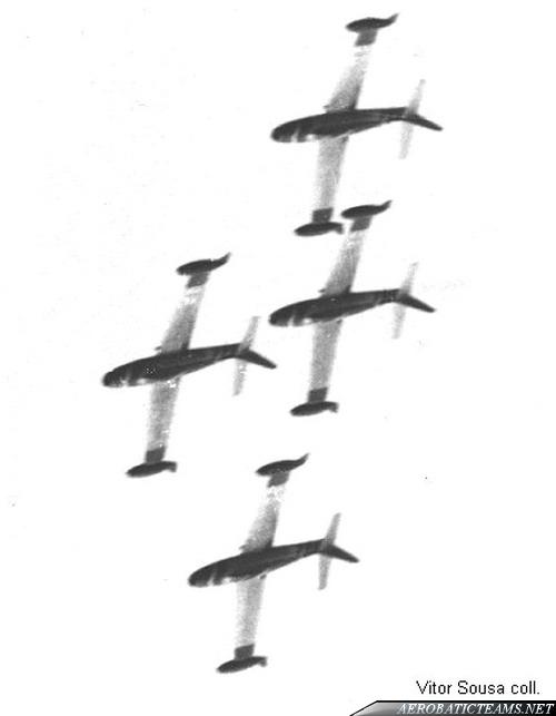 Sao Jorge F-84G Thunderjet. First paint scheme.