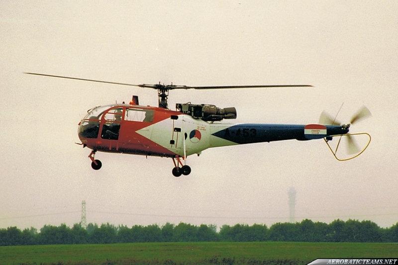 Grasshoppers Alouette III 1980-95 paint scheme