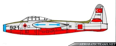 Akrep F-84G Thunderjet