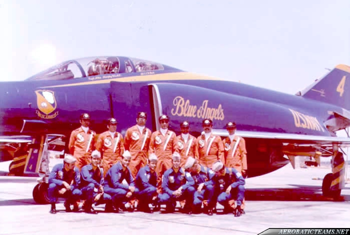 Golden Crown and Blue Angels pilots at Tehran Airshow 1973