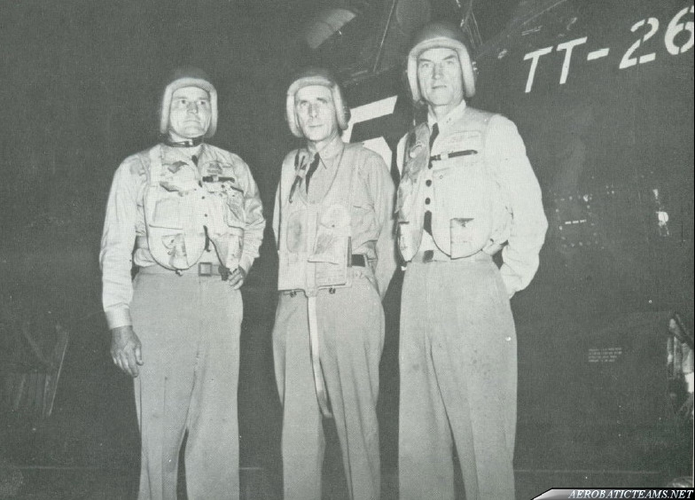 Gray Angels pilots:Admiral Daniel V. Gallery, Rear Admirals Apollo Soucek and Edgar A. Cruise