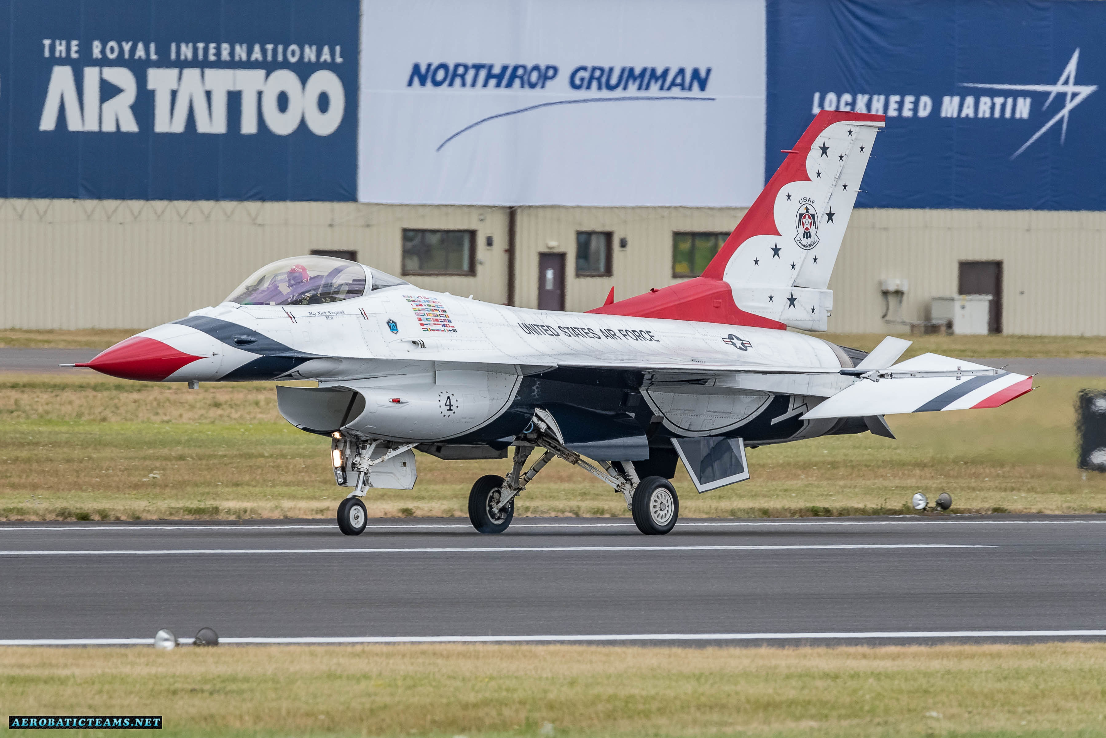 Maj. Nick Khan Krajicek during Europe visit in UK at Air Tattoo airshow, 2017