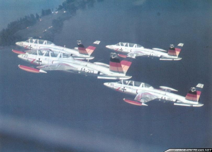 FFS A Acro Team CM-170R Fouga Magister, 1961 paint scheme