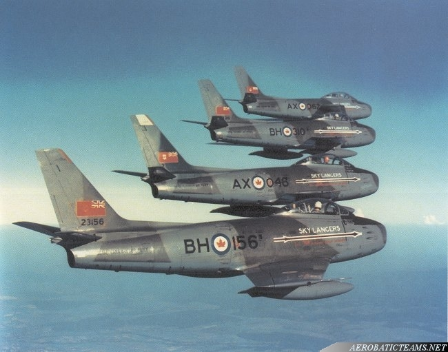 Sky Lancers Canadair F-86 Sabre, 2nd Wing paint scheme
