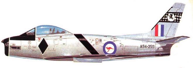 RAAF Black Diamonds CA-27 Mk.32 Sabre livery