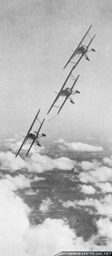 US NAVY Three Sea Hawks Boeing F2B