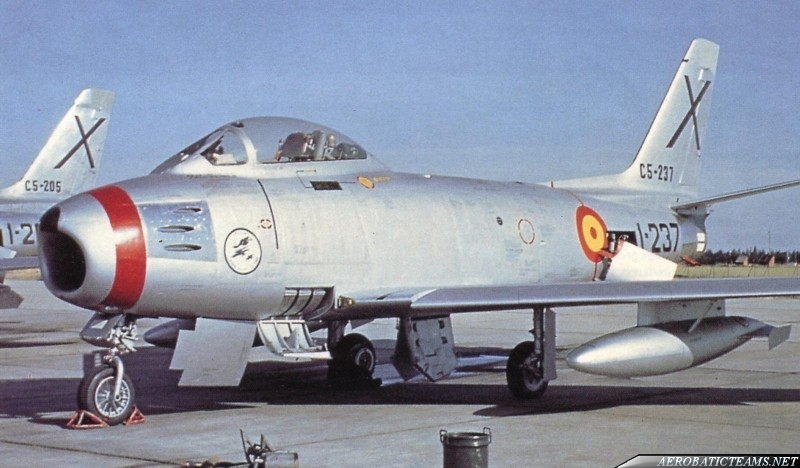 Patrulla Ascua F-86 Sabre first paint scheme from 1956 to 1957