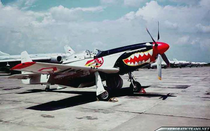 First Indonesian Air Force aerobatic team flew P-51D Mustang