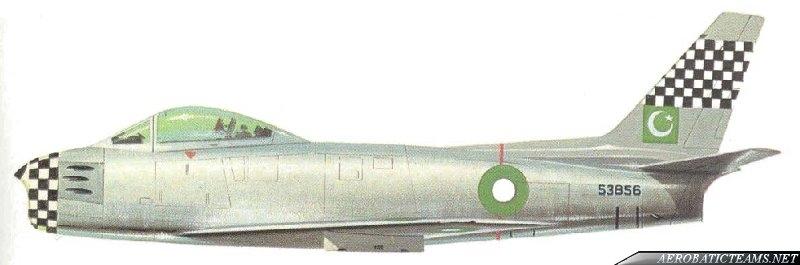 Falcons F-86 Sabre livery