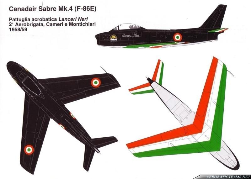 Lanceri Neri Canadair Sabre Mk.4 livery