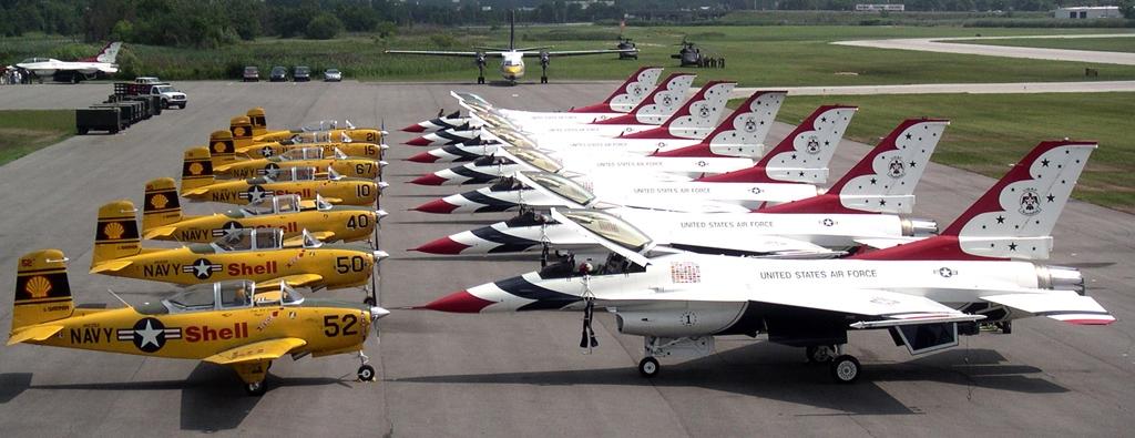 Lima Lima Flight Team and Thunderbirds