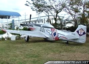 Blue Diamonds P-51 Mustang from 1953 to 1955
