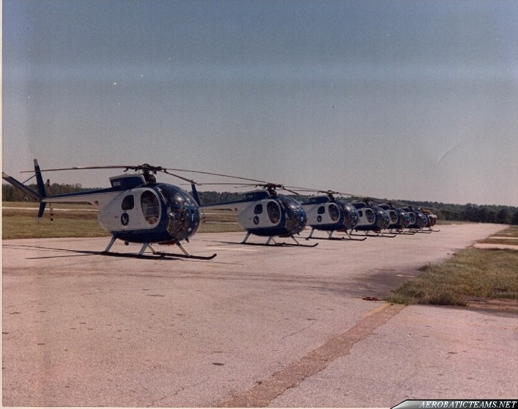 Silver Eagles OH-6A Cayuse. Second paint scheme from 1974 to 1976