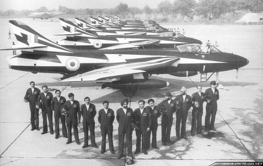 Thunderbolts Hawker Hunter F.56A pilots