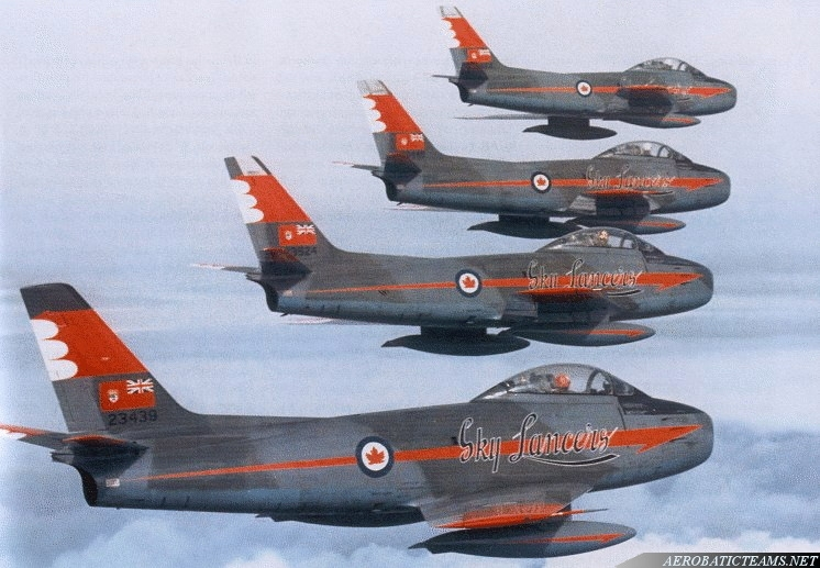 Sky Lancers Canadair F-86 Sabre, 4th Wing paint scheme